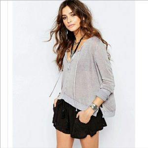 Free People Affogato Hacci Henley Top